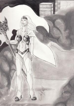 Young Platinum Priestess by kinzie k