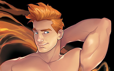 Preview of Silverjow's sexy Kyle pin-up