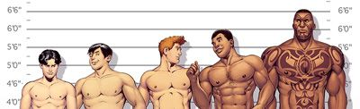 Height Chart for the Guys